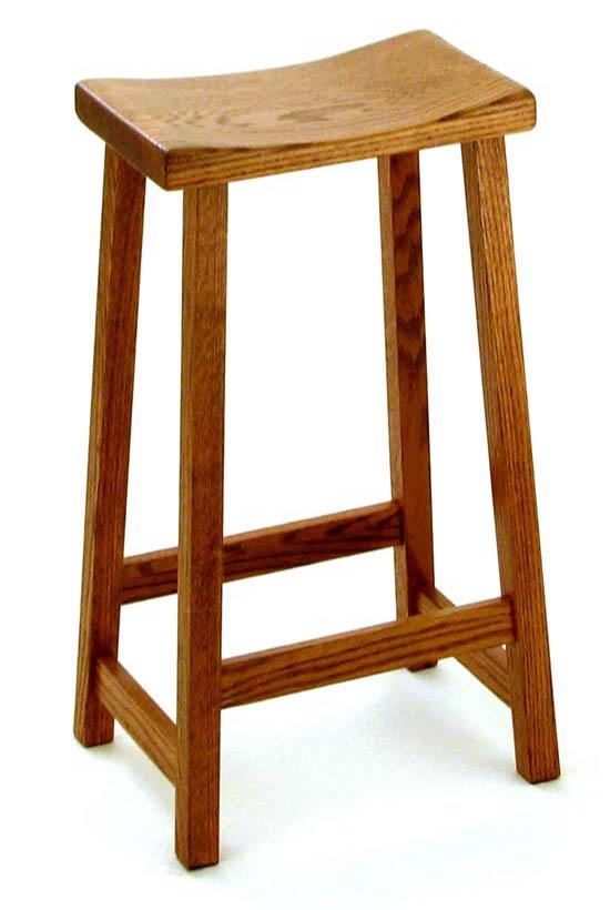 Solid Oak Maple Or Cherry Amish Built Bar Stool Destiny