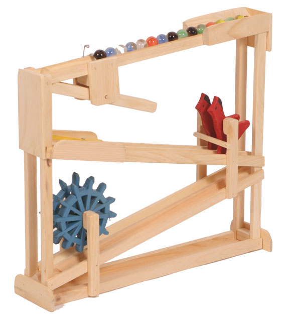 Wooden Double Marble Roller With Bird
