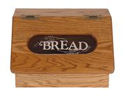 Picture of Solid Wood Bread Box with Slant Top