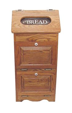 Picture of Solid Wood Potato Bin with Bread Box