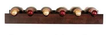 Picture of Wall Mount Solid Wood Wine Rack