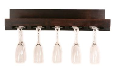 Picture of Amish built Wall mount Solid Wood Stemware Rack