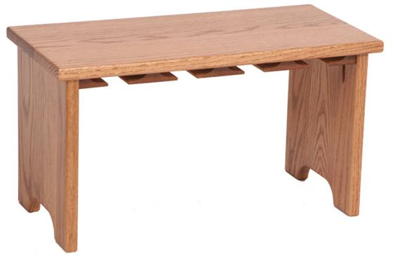 Picture of Solid Oak Stackable Stemware Rack