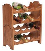 Picture of Solid Oak Stackable Wine Rack