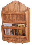 Picture of Solid Wood Mail Organizer 2 Tier Wall Mount