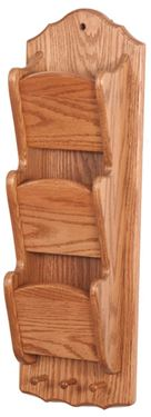 Picture of Solid Wood narrow Mail Organizer 3 Tier