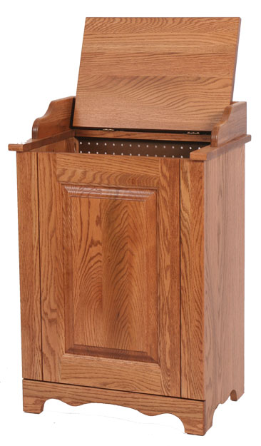 Amish Made Solid Wood Laundry Clothes Hamper