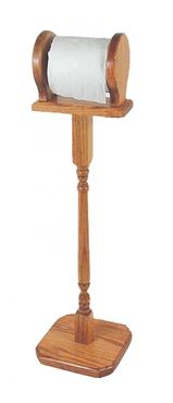 Picture of Solid Oak Toilet Paper Stand