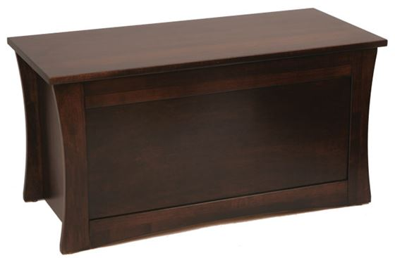 Picture of Solid Maple Soft Close Toy or Blanket Chest Flair Style