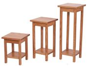 Picture of Solid Oak Plant Stand Set