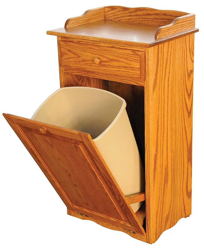 Four seasons furnishings amish made furniture dry sink with drawer and 9 gallon tilt out trash bin - Amish tilt out trash bin ...