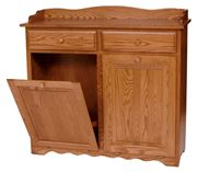 Picture of Solid Wood Double Tilt Out Trash Bin with Drawers