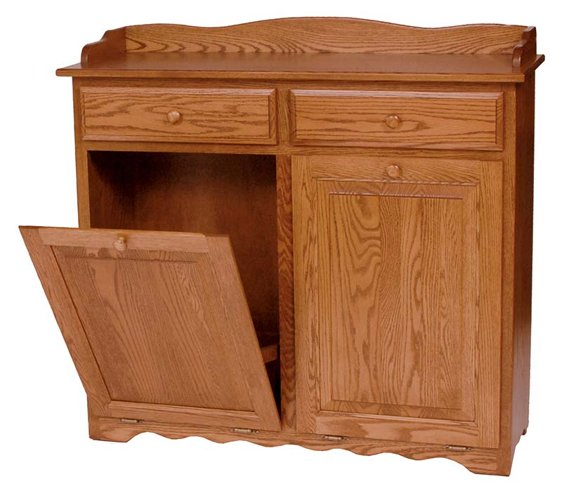 Four seasons furnishings amish made furniture solid wood double dry sink tilt out trash bin - Amish tilt out trash bin ...