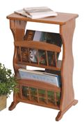 Picture of Solid Oak Amish made Double Magazine Rack End Table