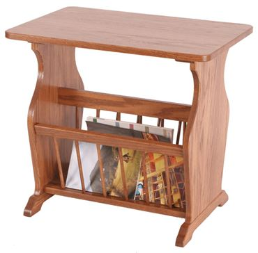 Amazing Picture Of Solid Oak Magazine Rack End Table Straight Bar