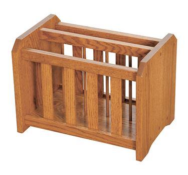 Picture of Solid Oak Magazine Rack Mission Style