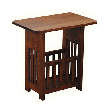 Picture of Solid Wood Magazine Rack Table Mission Style