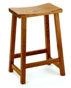 """Picture of Solid Wood Amish built Bar Stool Destiny Style 24"""""""