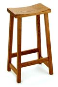Picture of Solid oak,maple,or cherry Amish built Bar Stool Destiny Style 30""
