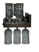 Picture of Solid Wood Wallmount Wine and Stemware Rack