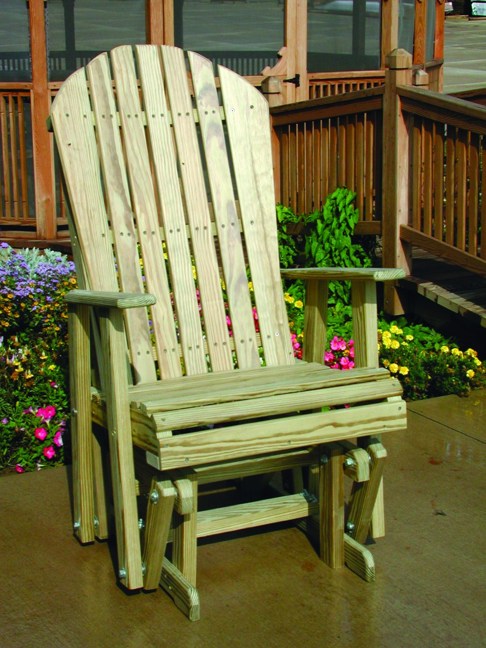 Luxcraft Wooden 2 Adirondack Glider Four Seasons
