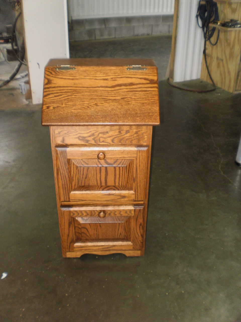 ... Solid Wood Amish Built Potato Onion Bin Wbread Box With Drawers