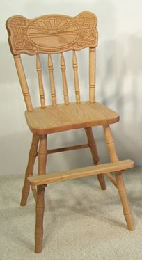 Picture of Solid Oak Sunburst Youth Chair