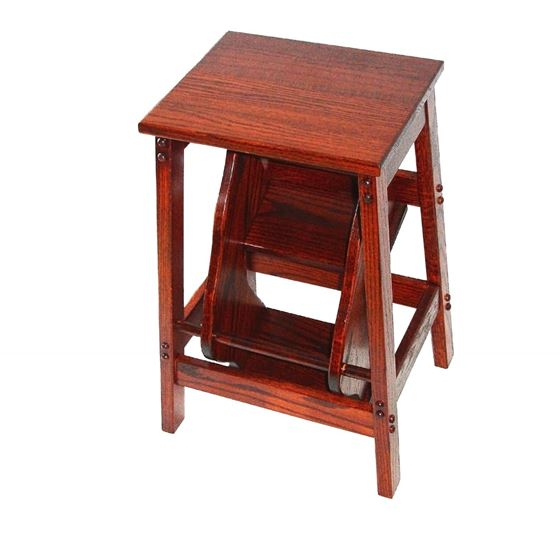 Picture of Solid Oak Amish built retractable Step Stool