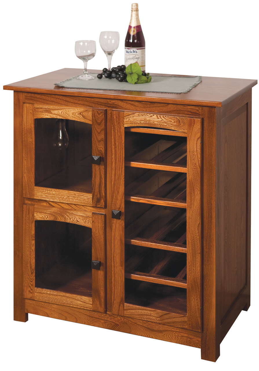 Four Seasons Furnishings Amish Made Furniture Amish Made Shaker Wine Cabinet