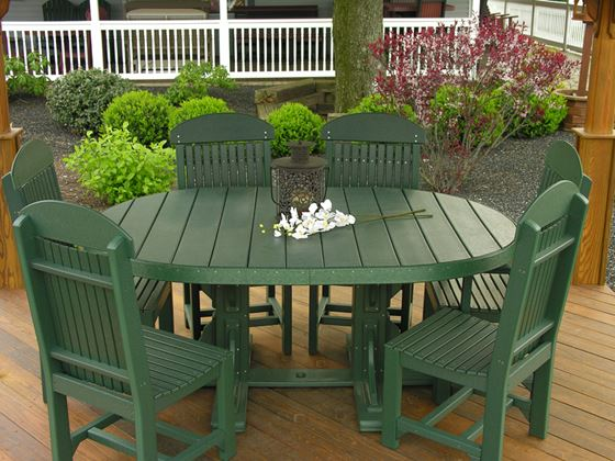 Picture of Luxcraft Oval table set with 4 chairs