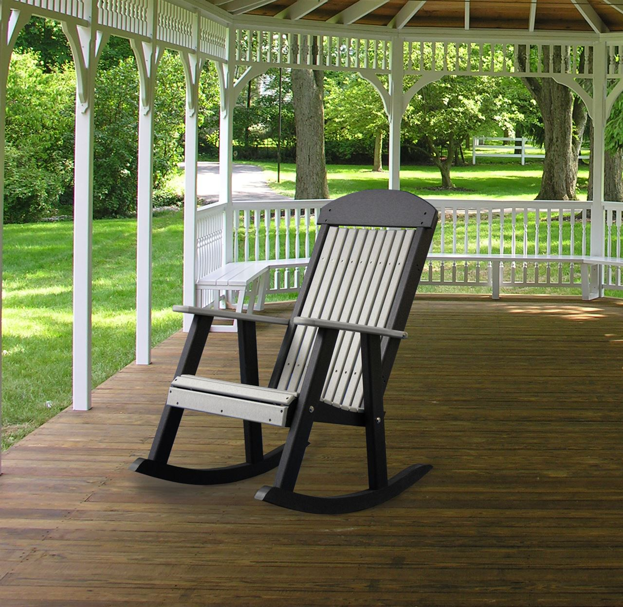 Four Seasons Furnishings Amish Made Furniture Luxcraft Poly Porch Rocking Chair