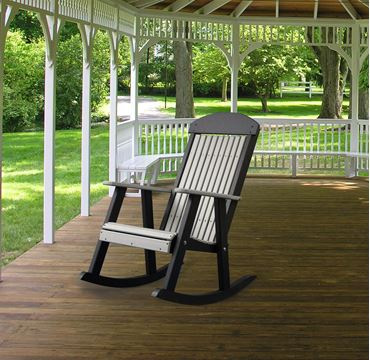 Elegant Picture Of LuxCraft Poly Porch Rocking Chair