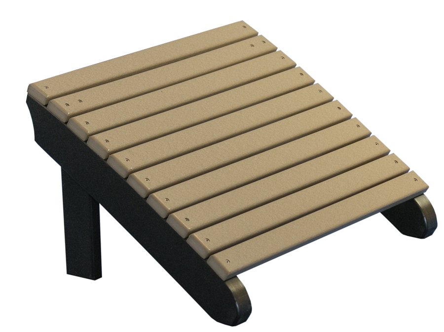 ... Picture Of LuxCraft Poly Deluxe Adirondack Chair Footrest