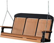 Picture of LuxCraft Poly Classic Highback Swing 5ft