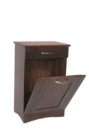 Picture of Wooden Tilt Out Trash Bin with Drawer