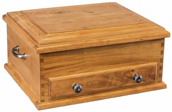 Picture of Wood  Silverware-Flatware Chest Plain Top Design