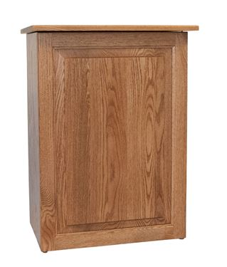 Picture of Solid Wood Flat Top Clothes Hamper