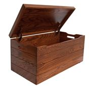 Picture of Solid Wood Blanket or Toy Chest with Anti-Slam Hinges