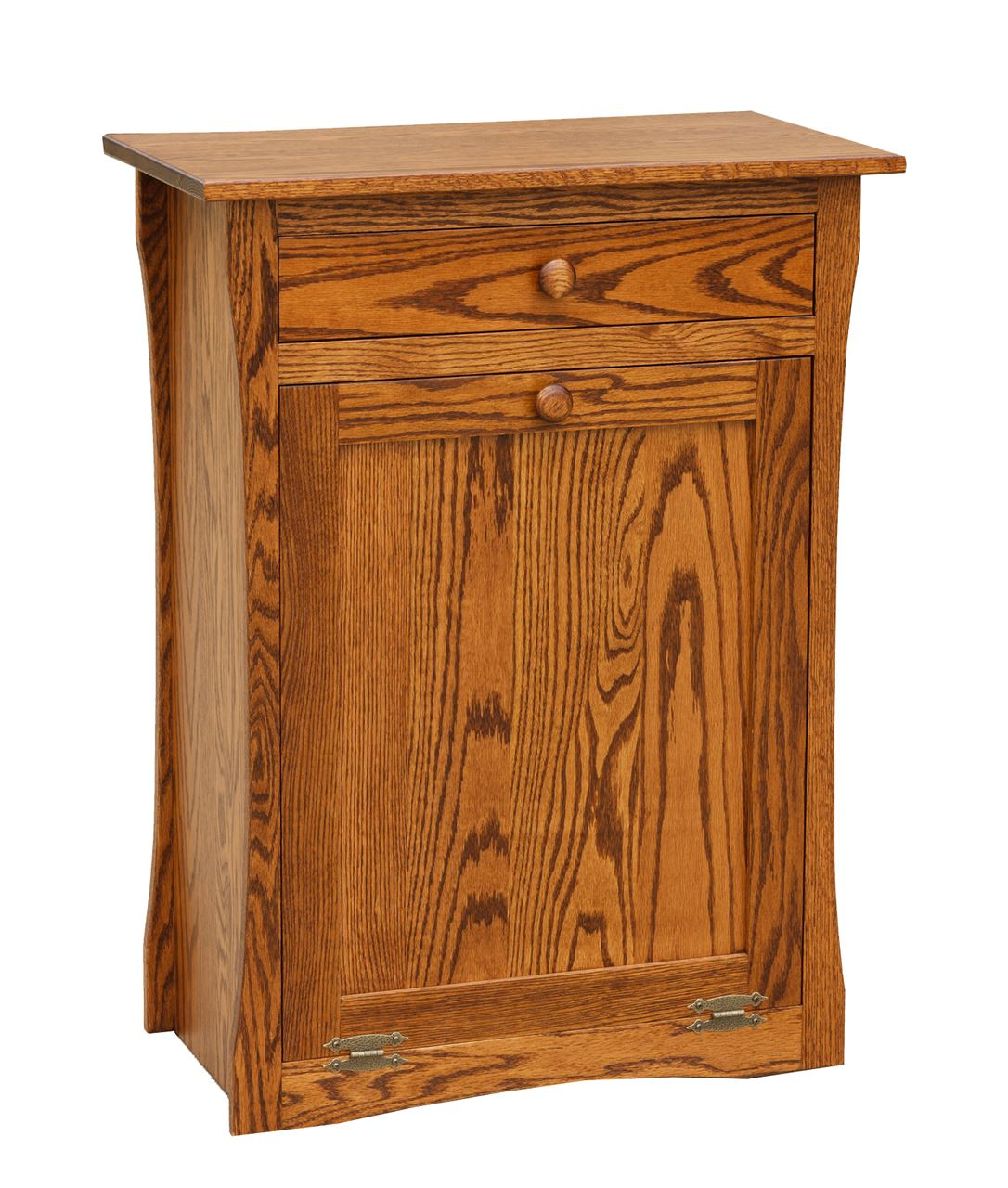 Four seasons furnishings amish made furniture contoured amish tilt out trash bin with a drawer - Amish tilt out trash bin ...