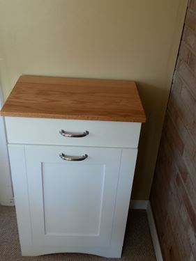 Picture of Two tone tilt out trash bin