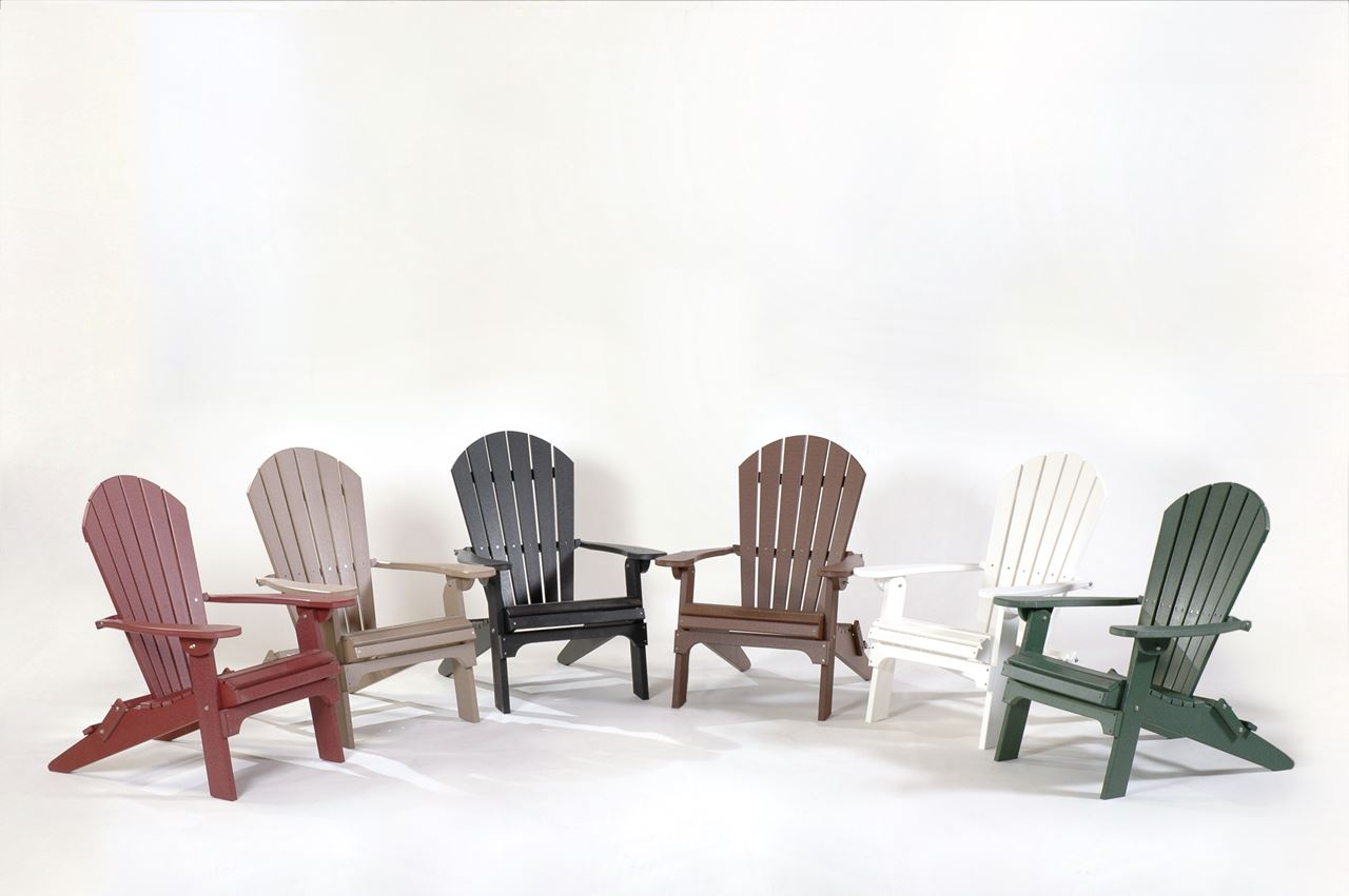 picture of comfort time poly folding adirondack chair