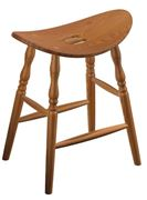 Picture of Amish built Saddle Bar Stool