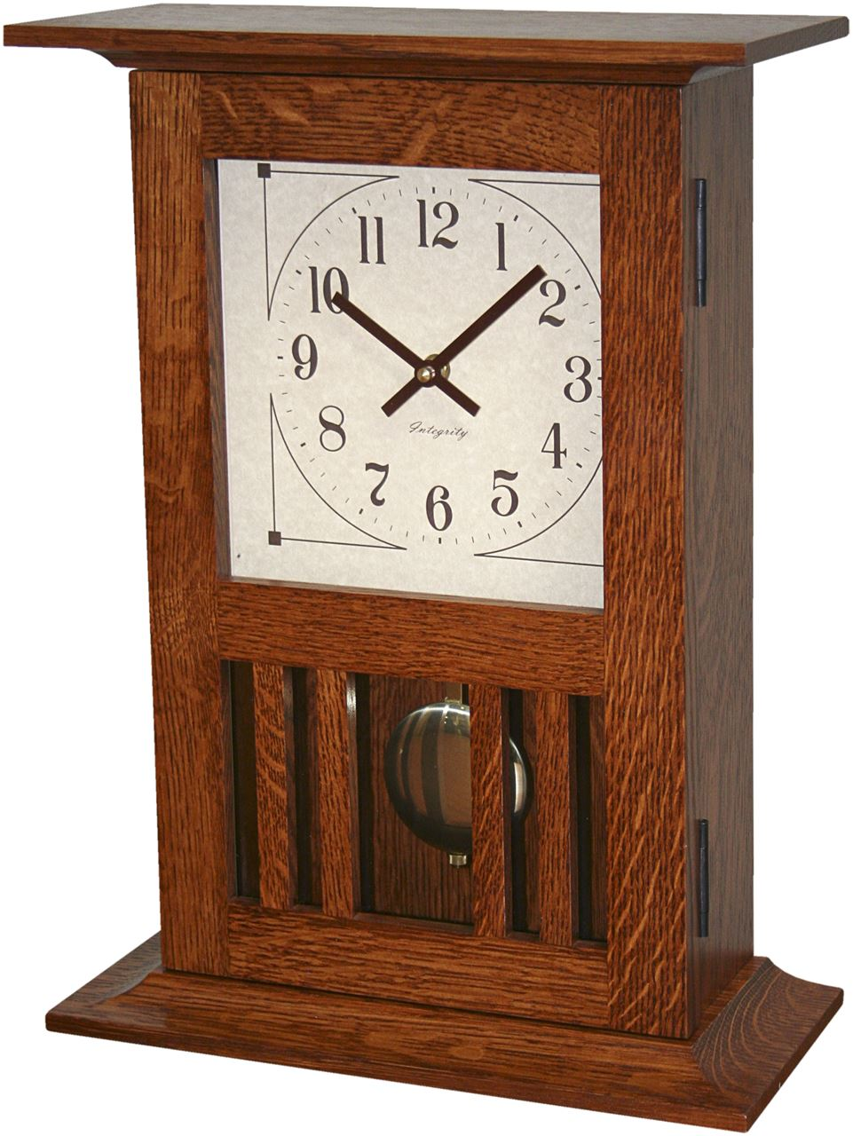 Mission Mantle Clock Without Chimes Four Seasons