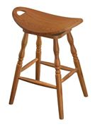 Picture of Amish Built Swivel Saddle Bar Stool
