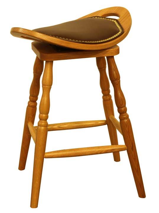 Upholstered Swivel Saddle Bar Stool Four Seasons