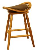 Picture of Upholstered Swivel Saddle Bar Stool