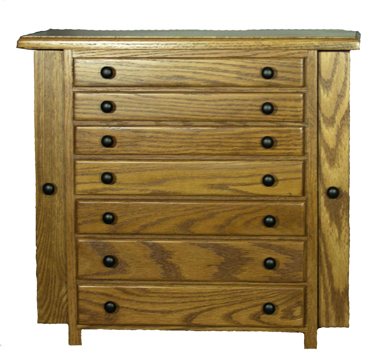 Picture of Amish made Jewelry Armoire - 7 drawer - 2 door ...