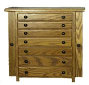 Picture of Amish made Jewelry Armoire - 7 drawer - 2 door