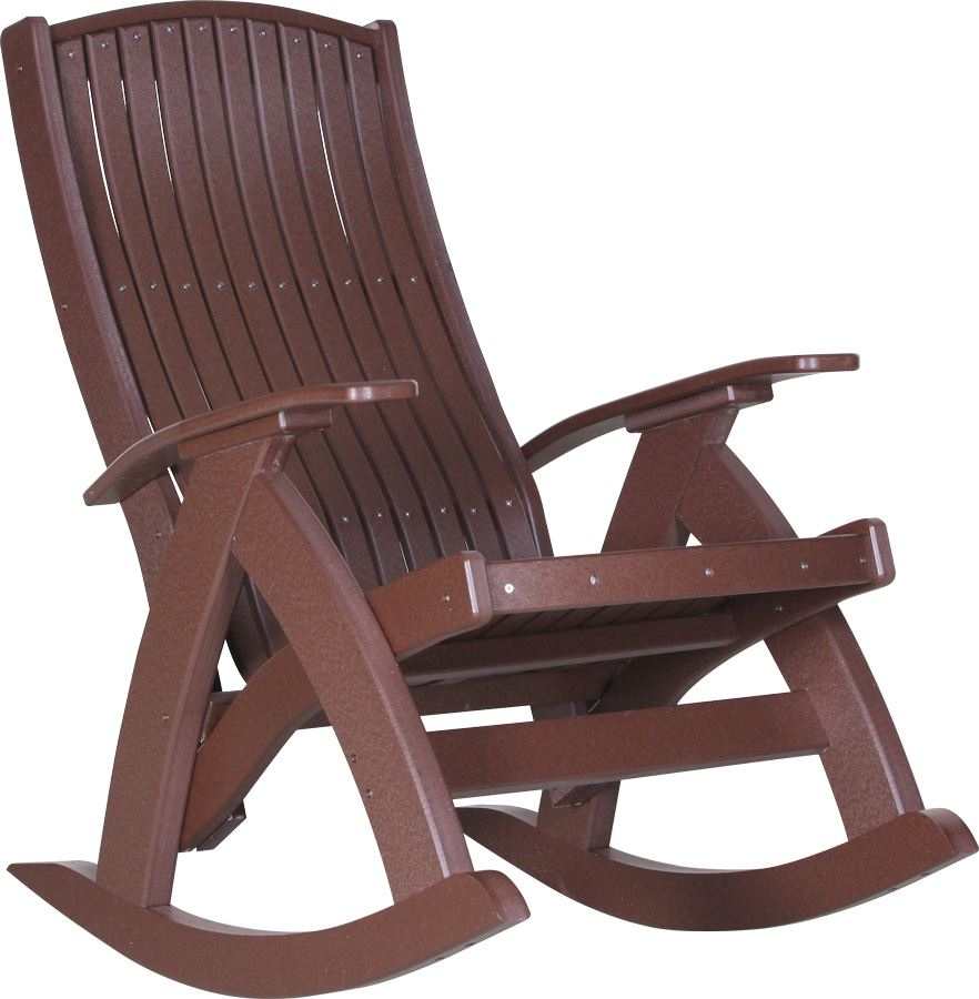 Amish outdoor rocking chairs -  Picture Of Luxcraft Poly Comfort Rocker