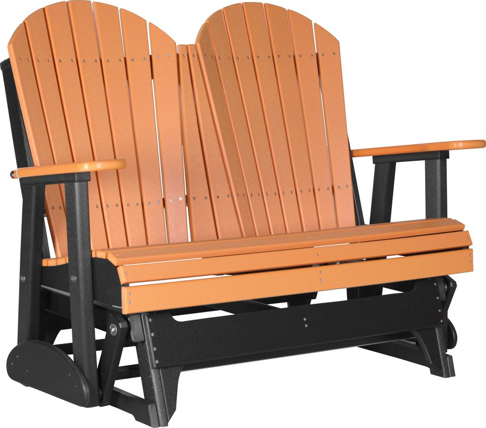 Deluxe Adirondack Glider ... - Four Seasons Furnishings-Amish Made Furniture . LuxCraft Poly 4ft
